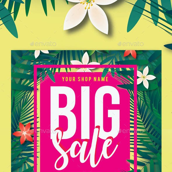 Summer Big Sale Flyer