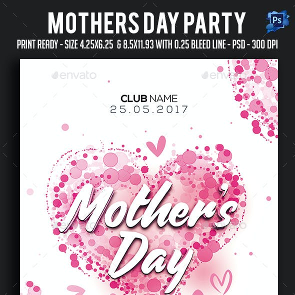 Mothers day Party Flyer