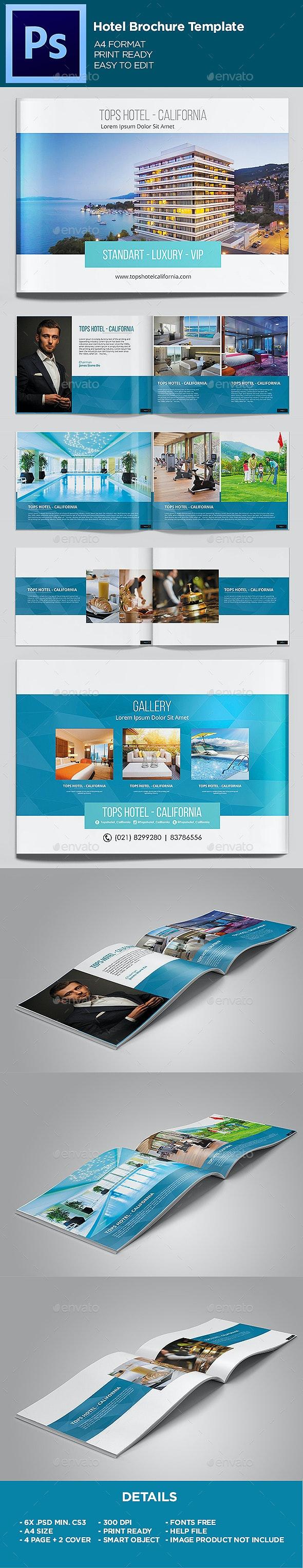Hotel - Brochure Template - Brochures Print Templates