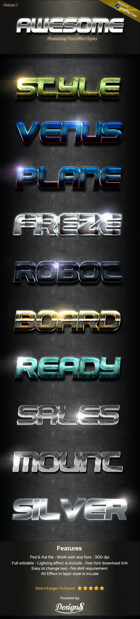 Photoshop Text Effect Style 1 - Text Effects Styles