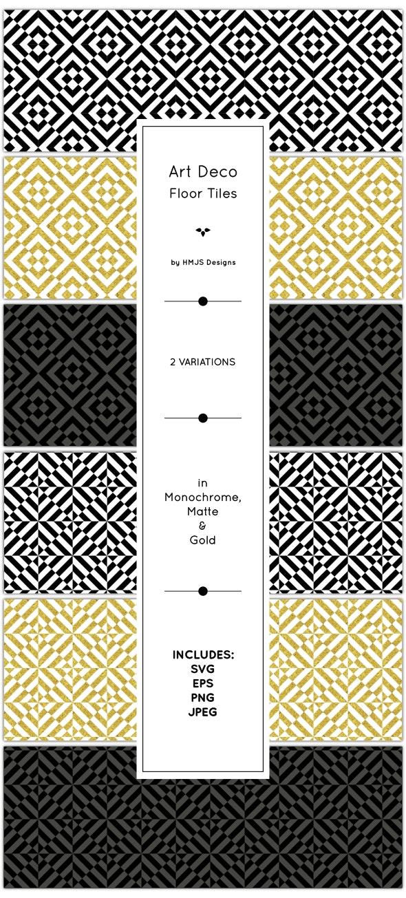 Art Deco Floor Tiles - Textures / Fills / Patterns Illustrator