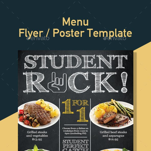 Restaurant Promotion Template for Poster / Flyer