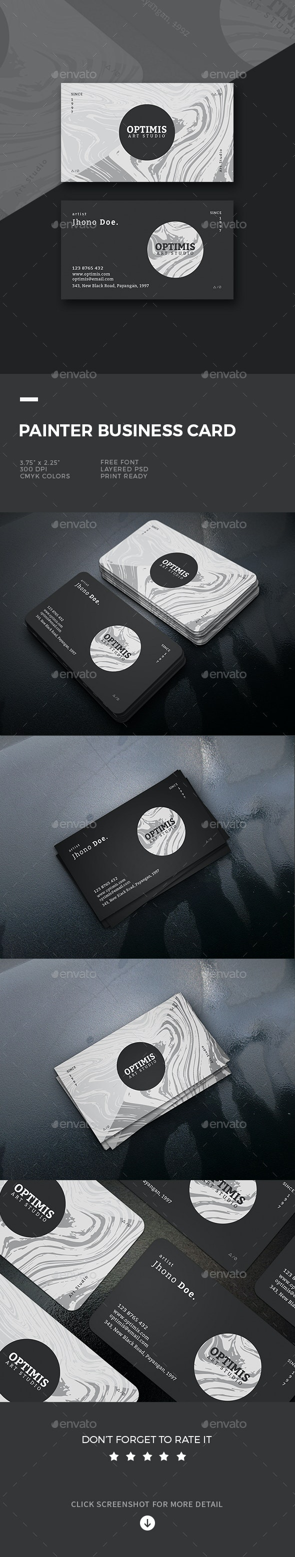 Painter Business Card - Business Cards Print Templates