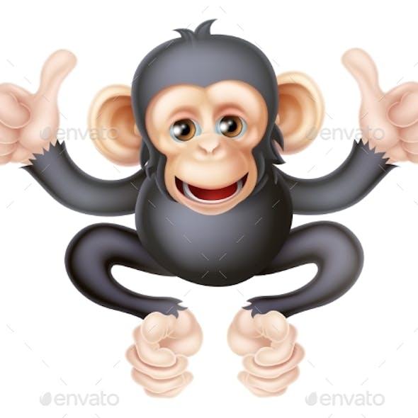 Thumbs Up Chimp Monkey