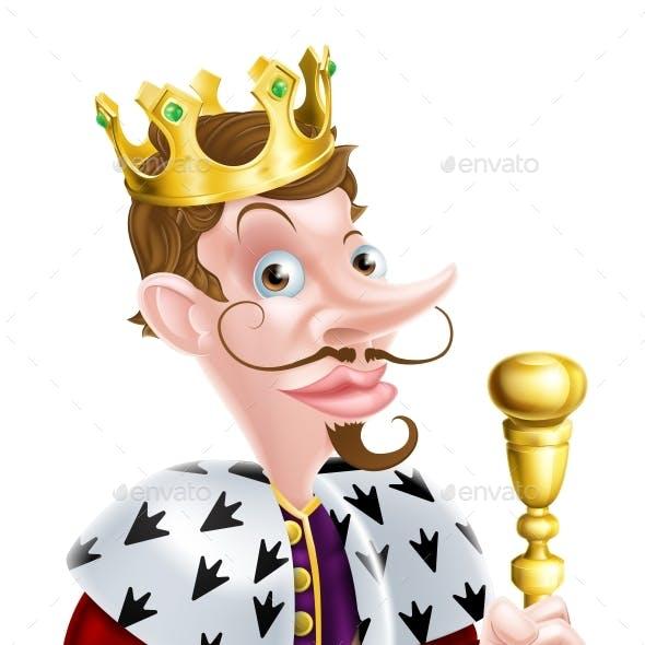 Snooty King Pointing Cartoon