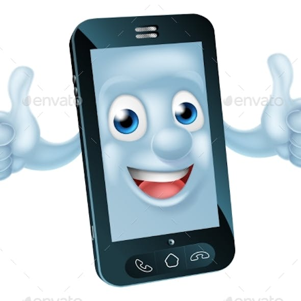 Cartoon Mobile Phone Character