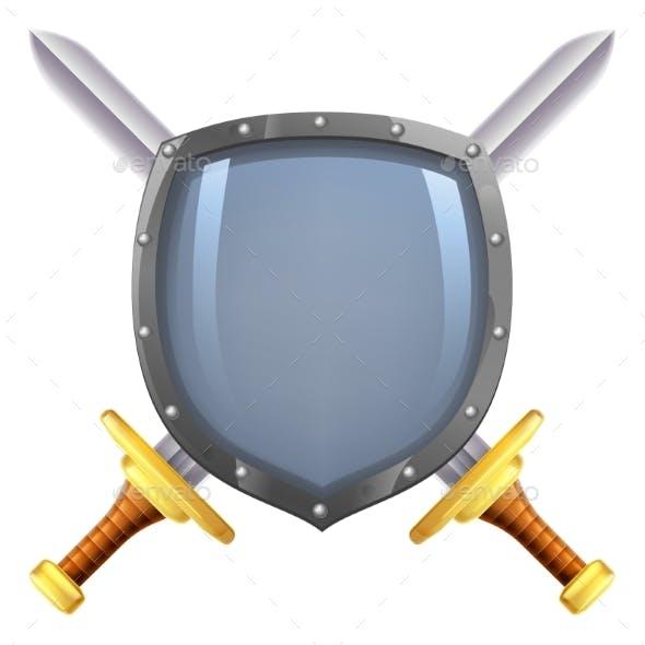 Crossed Swords Shield
