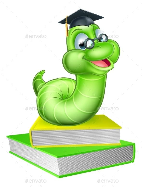 Cartoon Caterpillar Worm - Miscellaneous Vectors