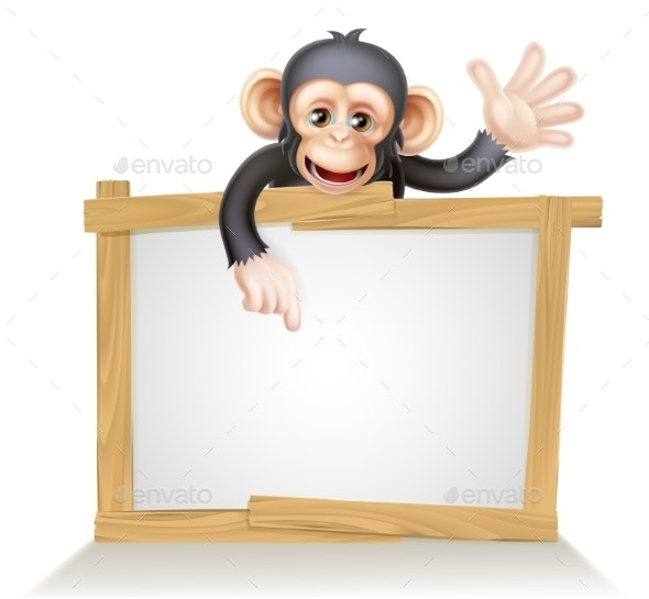 Chimp Sign - Animals Characters