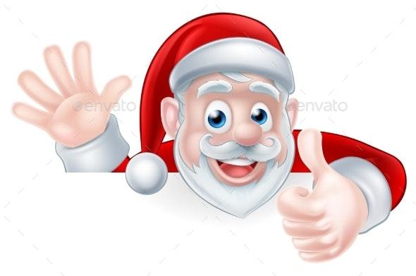 Santa Thumbs Up - Christmas Seasons/Holidays