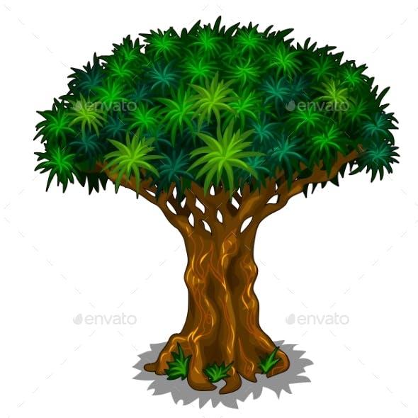 Magic Tree with Energy Veins