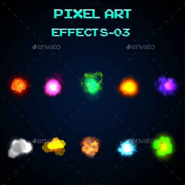 Pixel Art Effects-03 - Sprites Game Assets