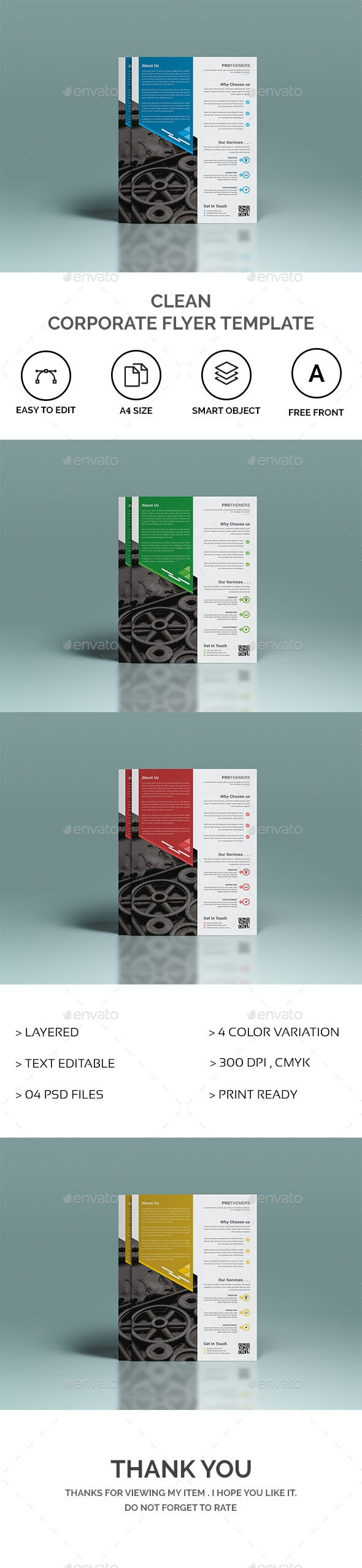 Clean Corporate Flyer Template - Corporate Flyers