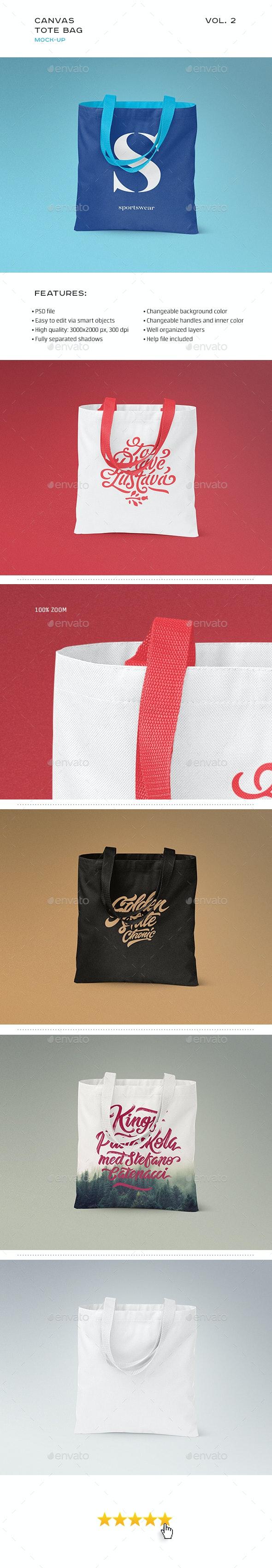 Canvas Tote Bag Mock-up Vol. 2 - Product Mock-Ups Graphics