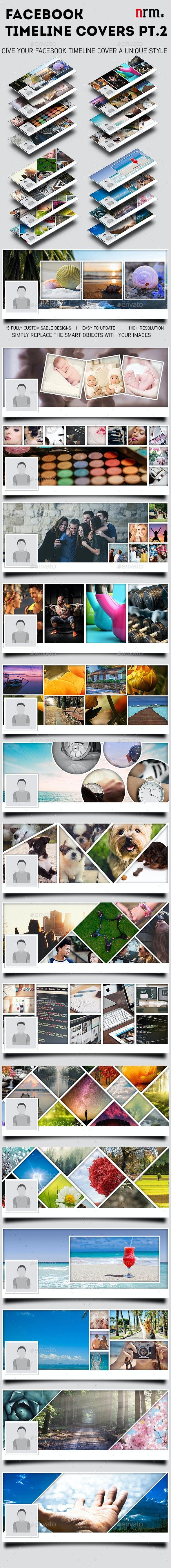 Facebook Timeline Cover Templates - Volume 2 - Social Media Web Elements