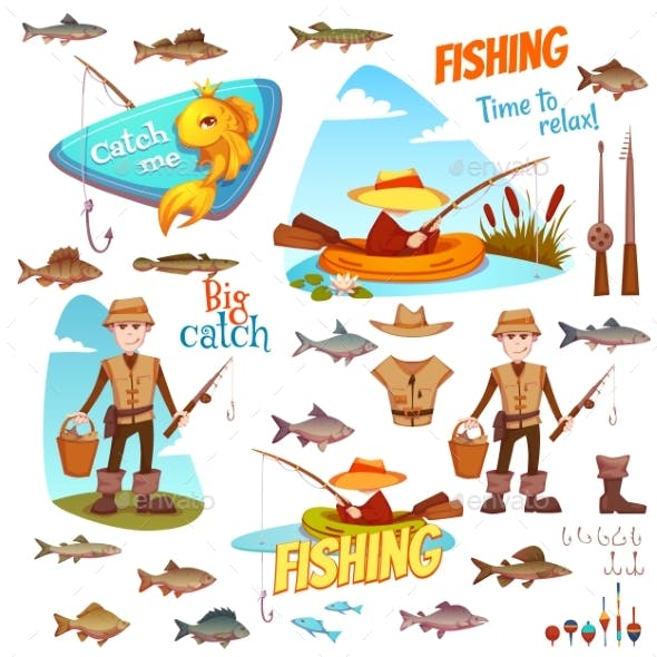 Different Fish and Fisherman