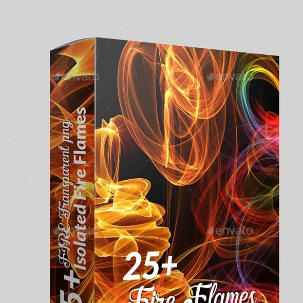 25 High Quality Hi-Res Isolated Fire Flames