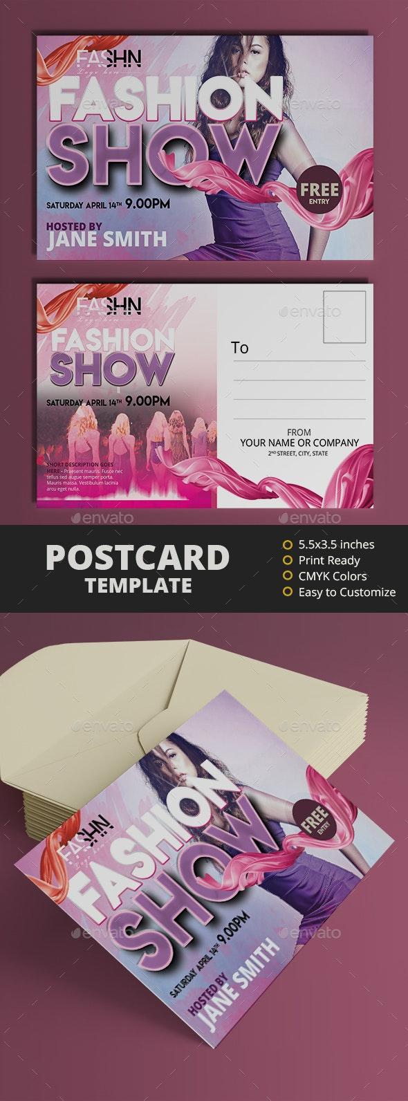 Fashion Show Postcard - Cards & Invites Print Templates