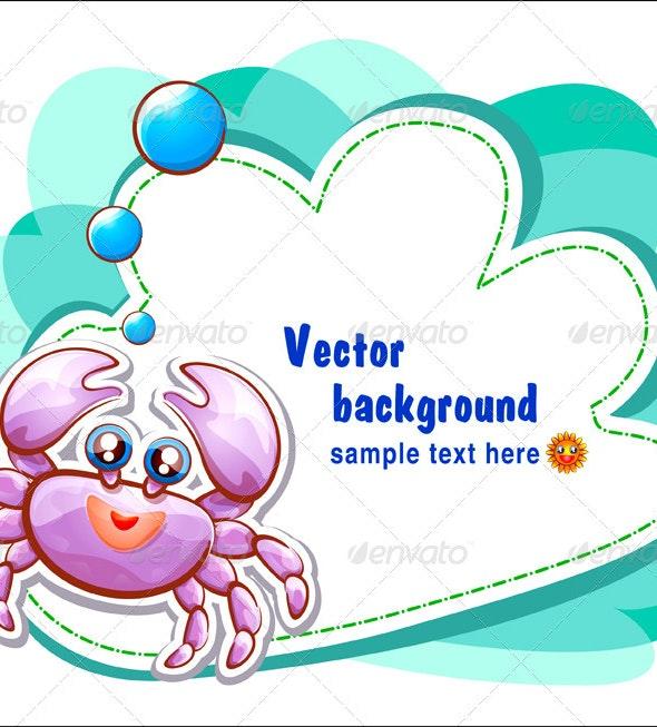 cute crabs template - Vectors