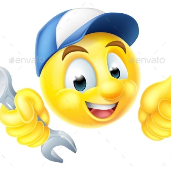 Mechanic Plumber Spanner Emoticon Emoji