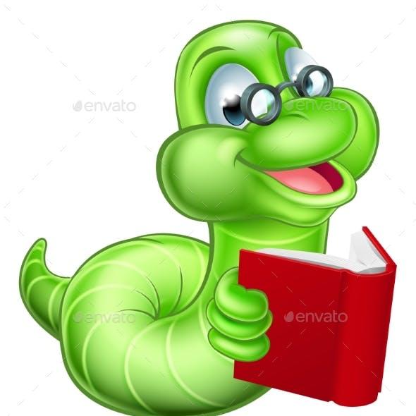 Bookworm Cartoon