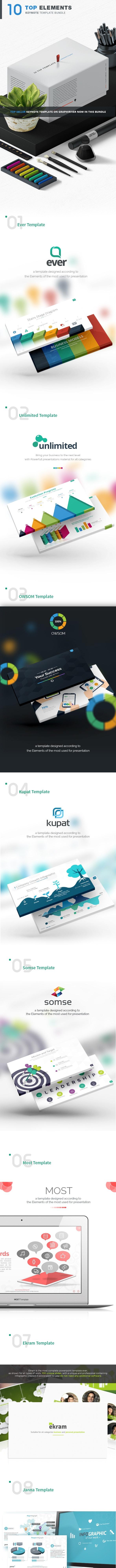 10 Top Keynote Template - Creative Keynote Templates
