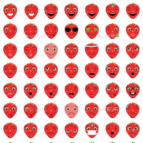 Strawberry Emoticons
