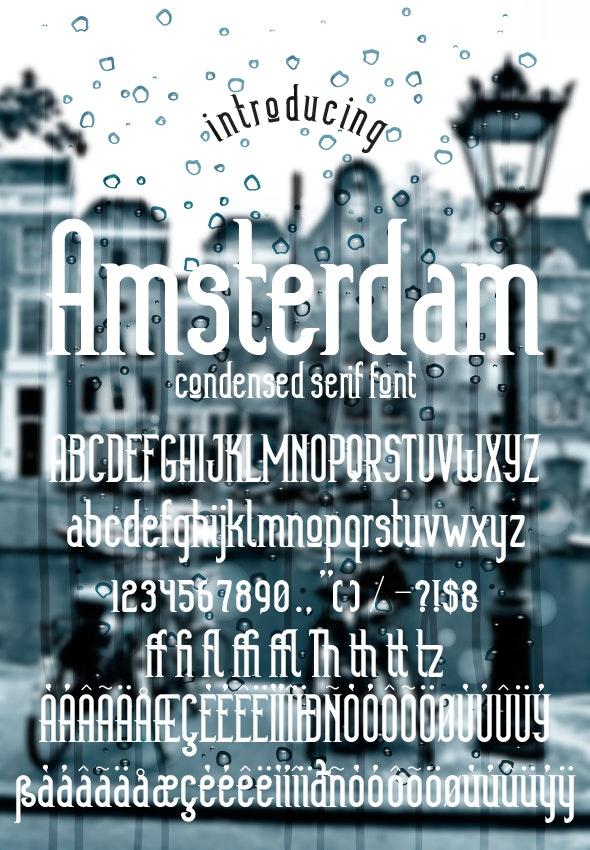 Amsterdam - Condensed Serif
