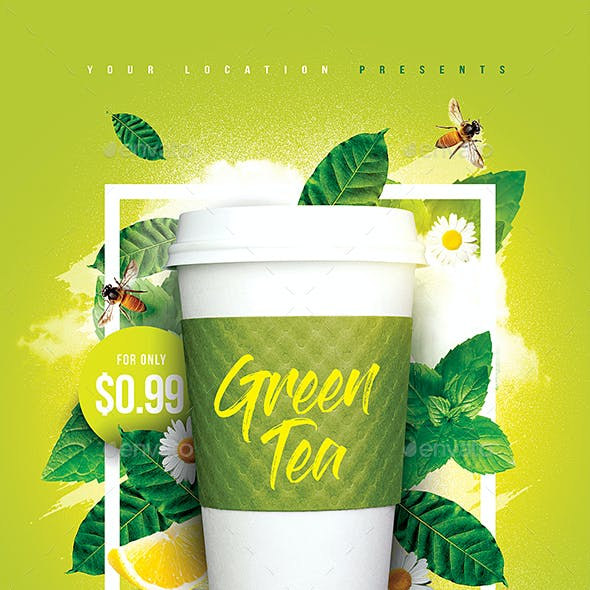 Green Tea Offer Flyer