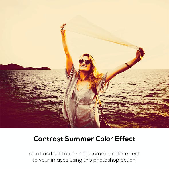 Contrast Summer Color Effect Action
