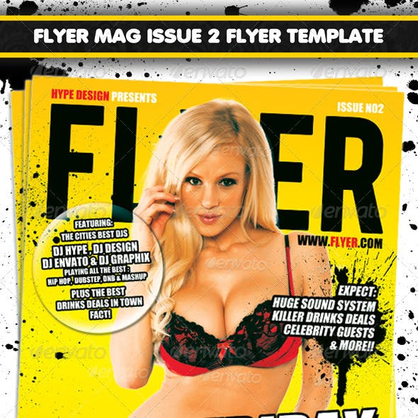 Flyer Mag Issue 2 Magazine Style Flyer template