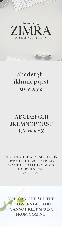 Zimra Serif Font Family - Sans-Serif Fonts