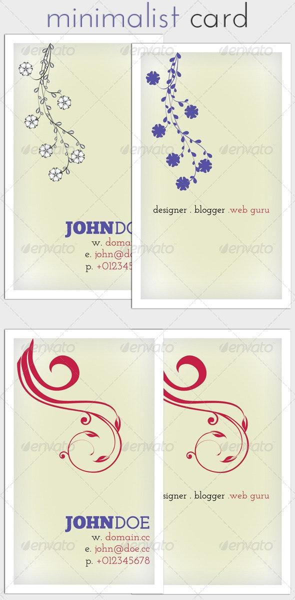 Minimalist Business Card - Corporate Business Cards