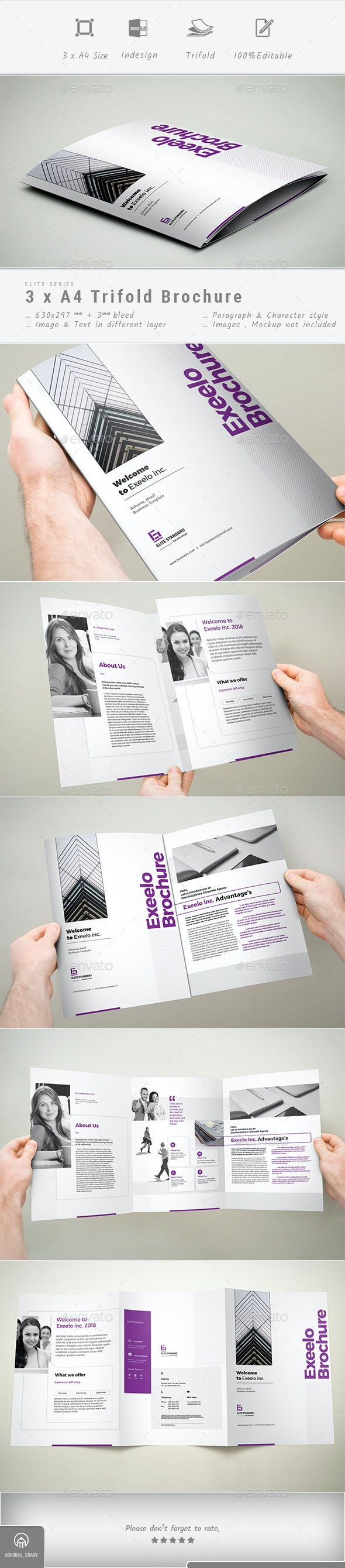 3xA4 Trifold Brochure - Corporate Brochures