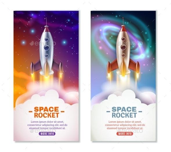 Space Rocket Vertical Banners - Miscellaneous Vectors