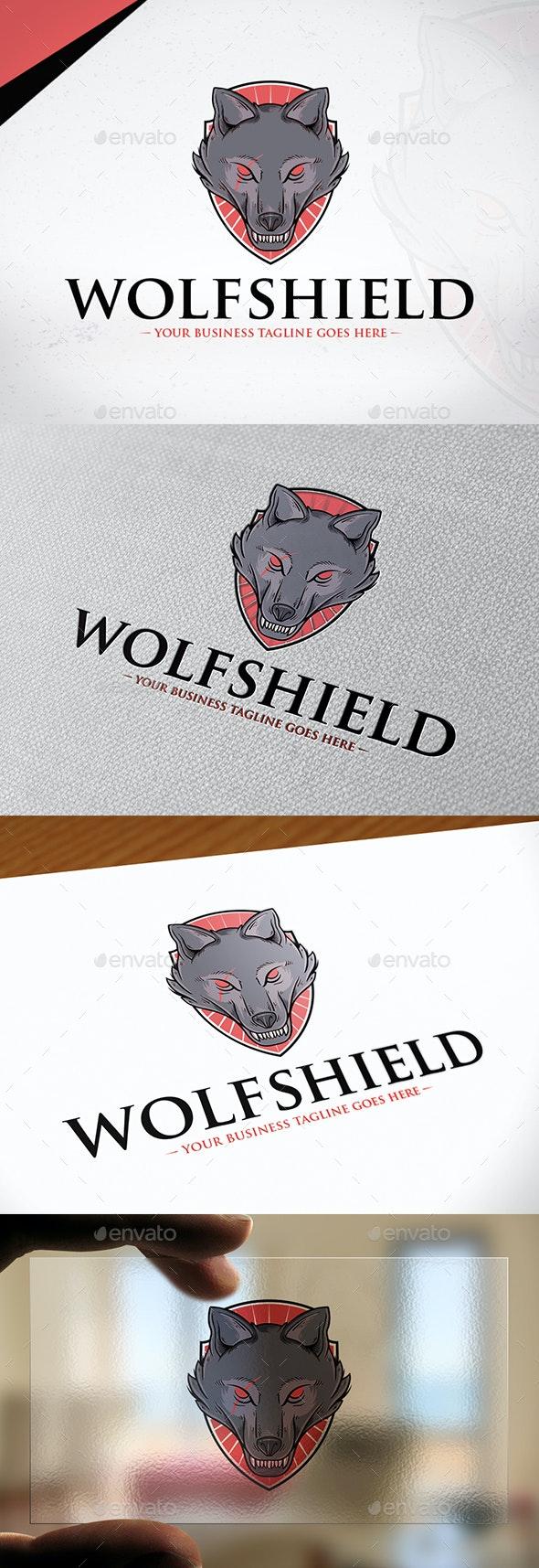 Wolf Shield Logo Template - Animals Logo Templates