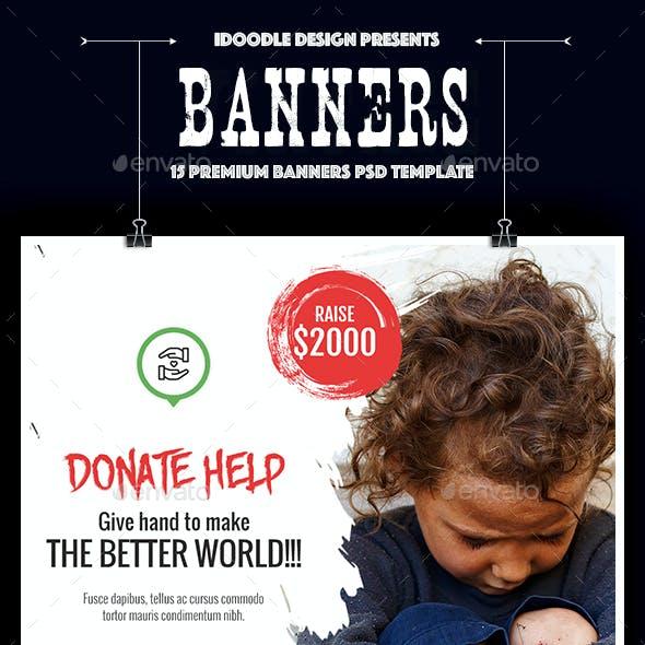 Nonprofit - NGO, Charity/Fundraising Banner Ads