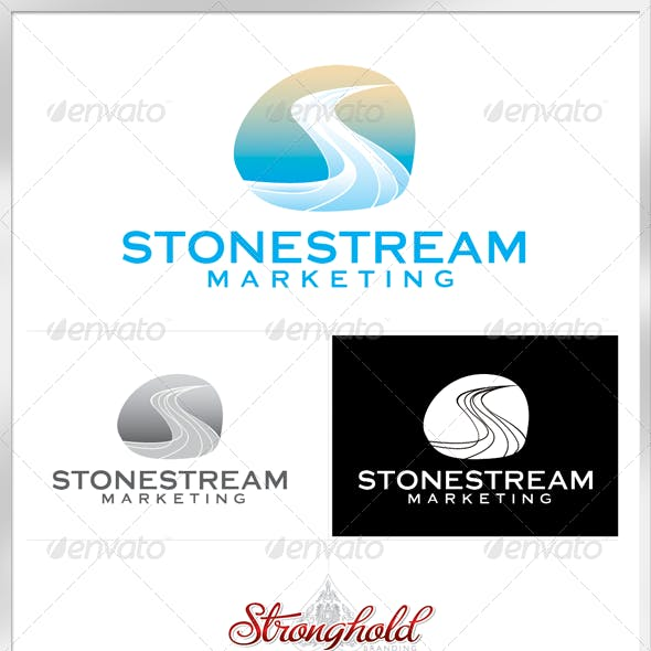 Stone Stream Logo template