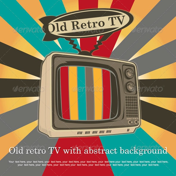 Old Retro TV - Vector - Retro Technology