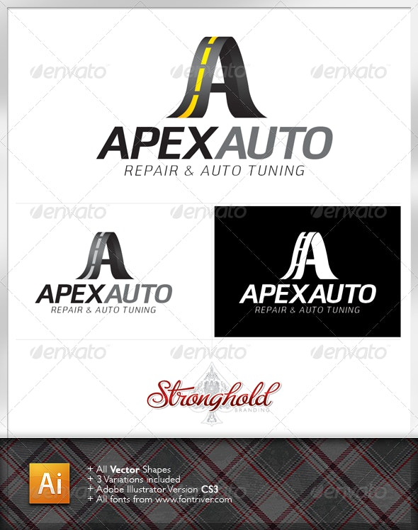 Apex Auto Tuning Logo Template - Letters Logo Templates