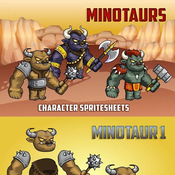 Minotaurs 2D Game Character Sprite Sheet