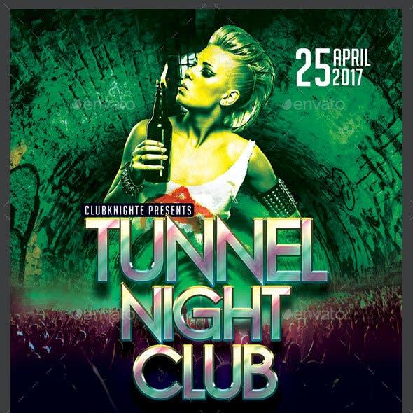 Tunnel Night Club Flyer