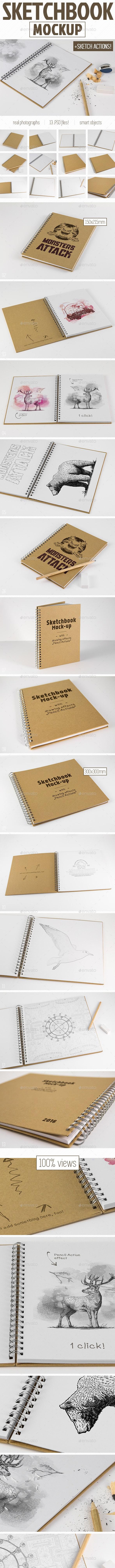 Sketchbook Mockup & Sketch Actions - Miscellaneous Print