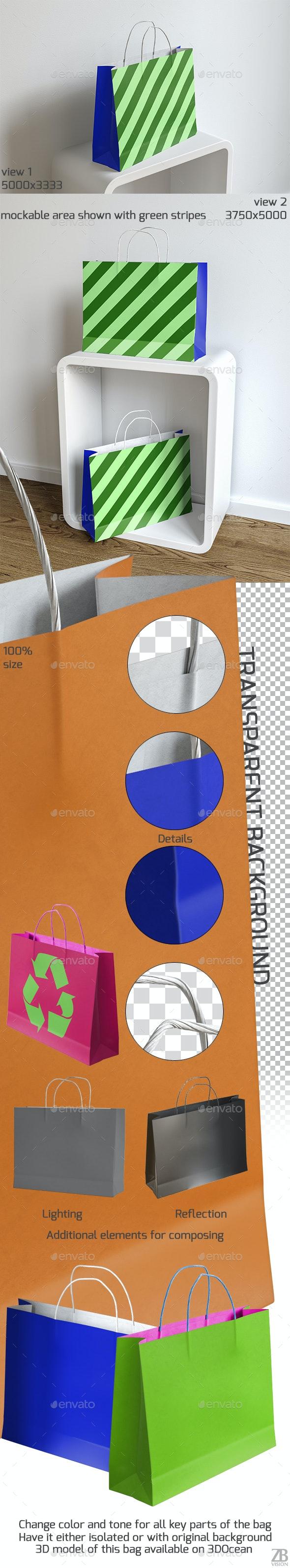 Shopping Bag Mock-up - Packaging Product Mock-Ups