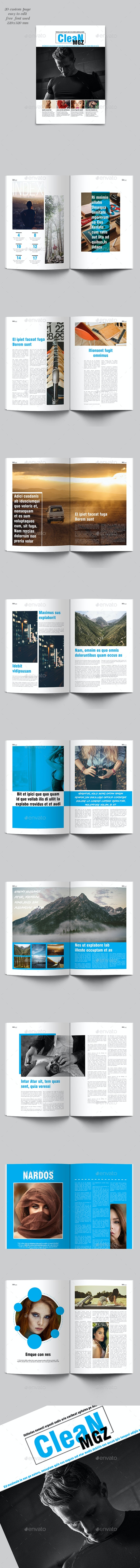 Clean Mgz Template - Magazines Print Templates
