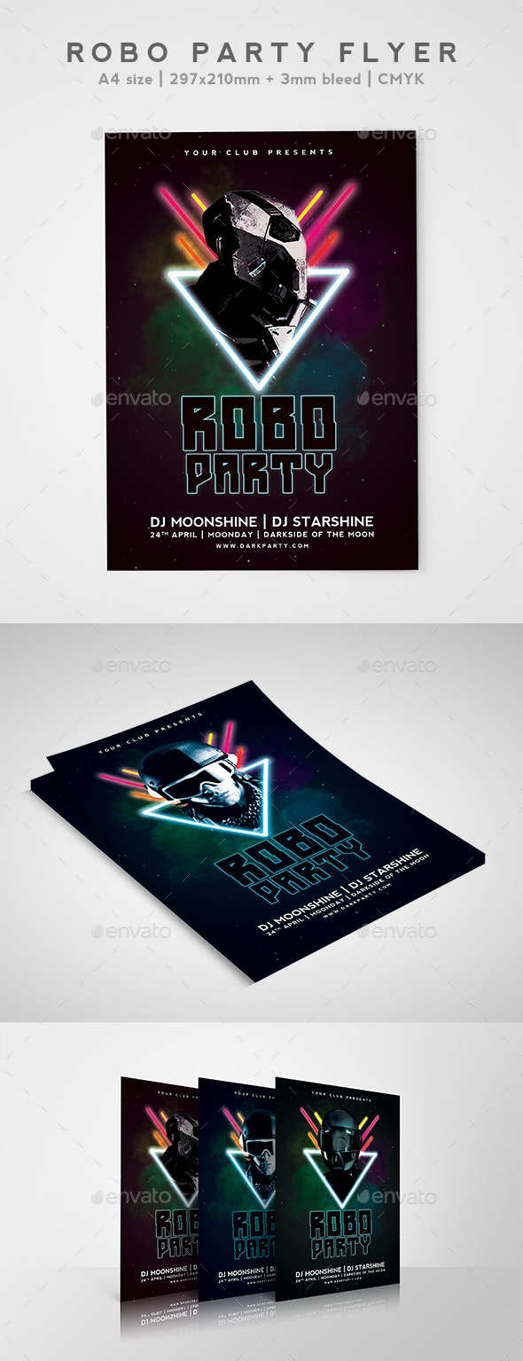 Robo Party Flyer - Events Flyers
