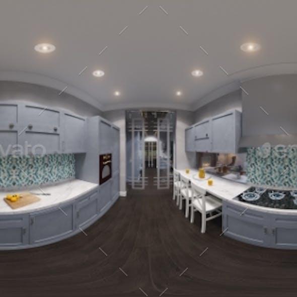 3d Illustration of the Kitchen Interior Design
