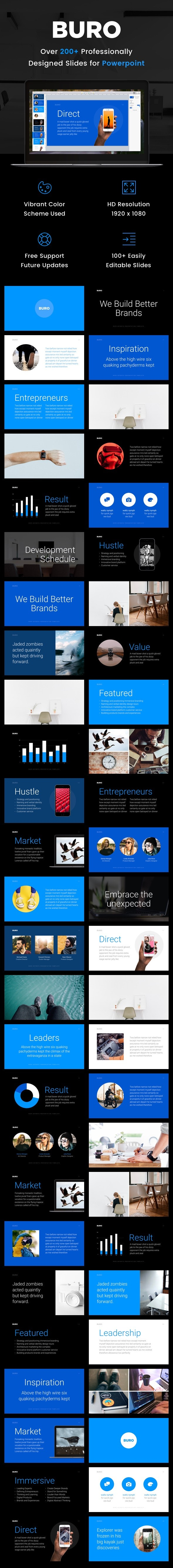 Buro - Business Powerpoint Presentation Template - Business PowerPoint Templates