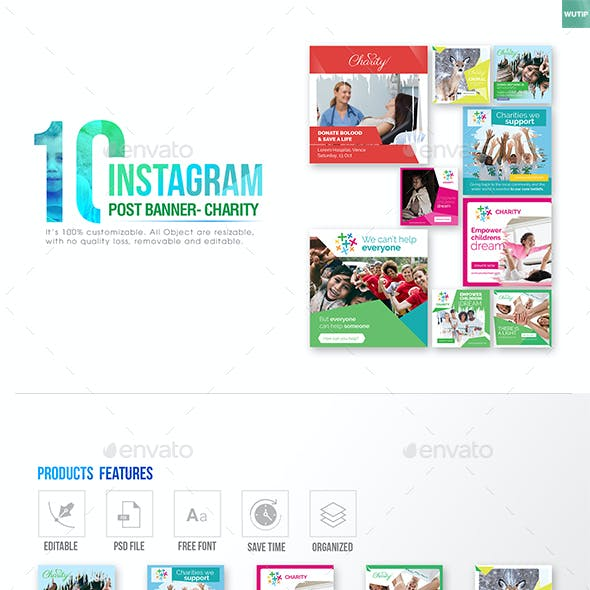 10 Instagram Post Banner - Charity