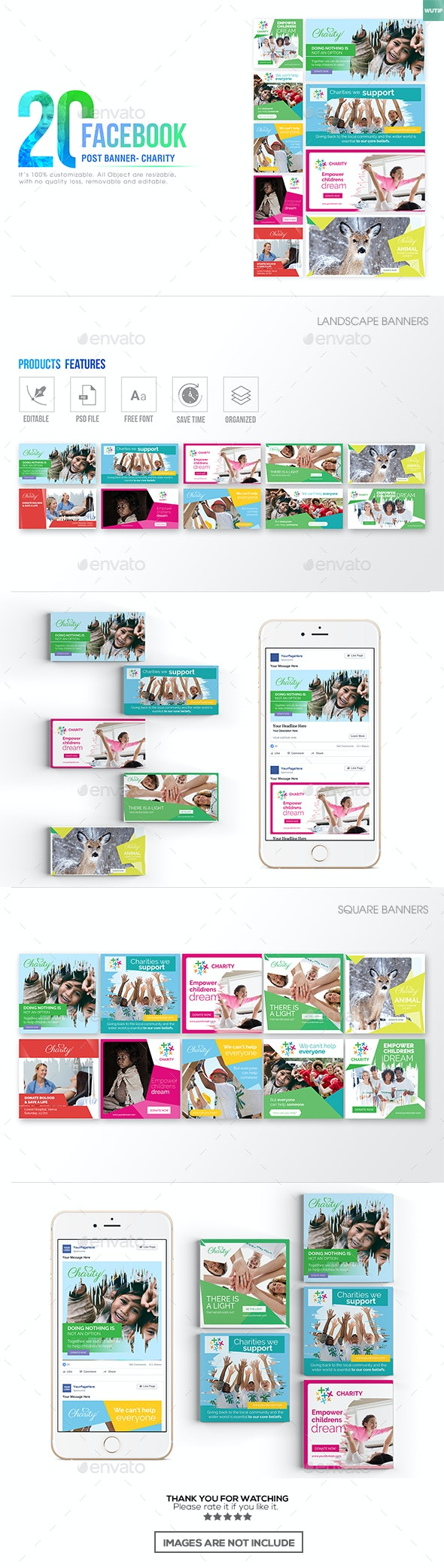 20 Facebook Post Banner - Charity - Miscellaneous Social Media